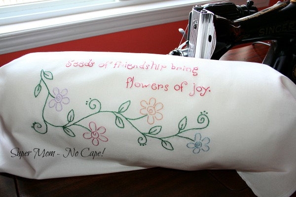 Seeds of Friendship Bring Flowers of Joy embroidery
