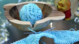 DIY Wooden Yarn Bowl