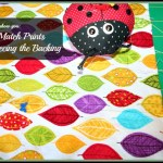 How to Match Prints When Piecing a Quilt Back