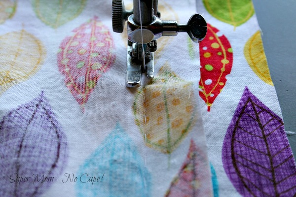 Sew along the basted line