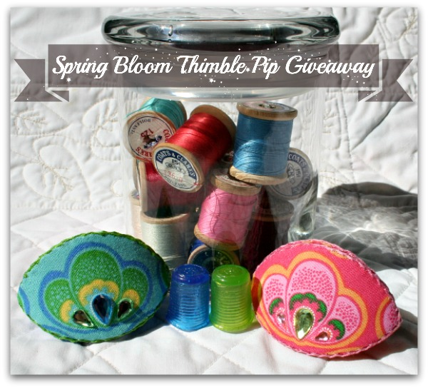 Spring Bloom Thimble Pip Giveaway photo showing both thimble pips.