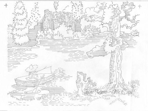 Vintage Workbasket Pattern for a Boy Fishing - Part 1