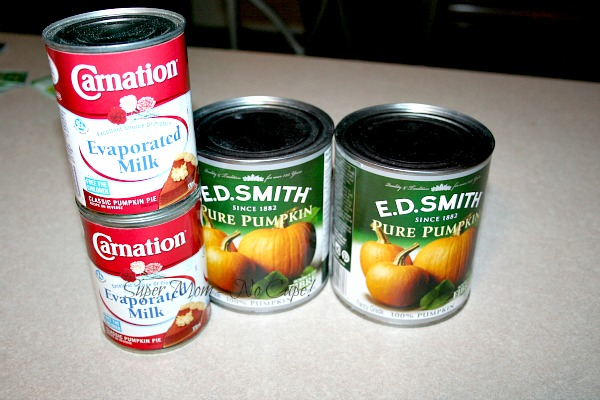 canned pumpkin and evaporated milk