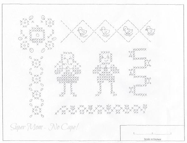 Vintage Workbasket pattern - Romper Embroidery
