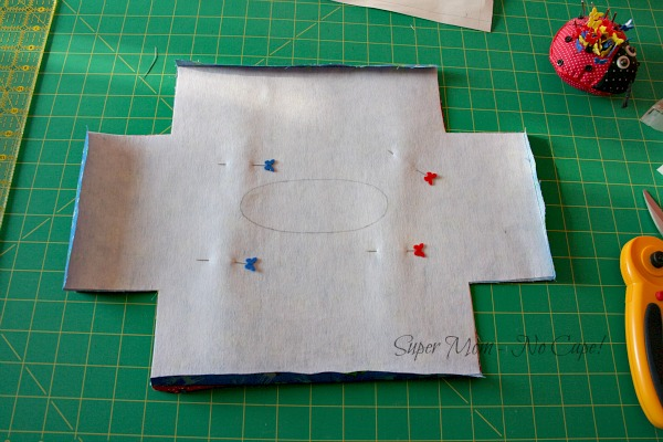30. Pin outside to lining with right sides together