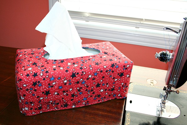 4th of July Fabric Tissue Box Cover