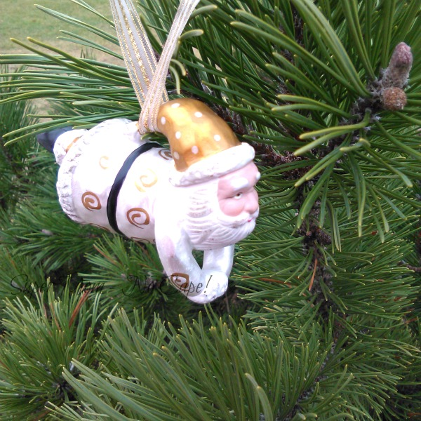 Flying Santa Ornament for Sammie