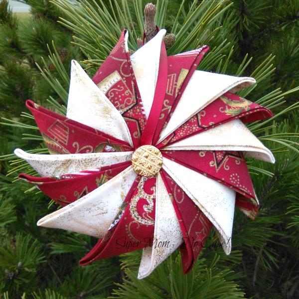 Prairie Point Star Ornament I made for Sammie