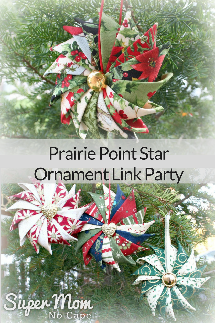 Prairie Point Star Ornament Link Party