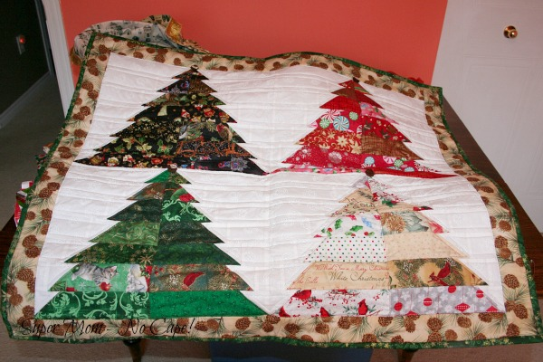 The Christmas Tree quilt Debbie made for me