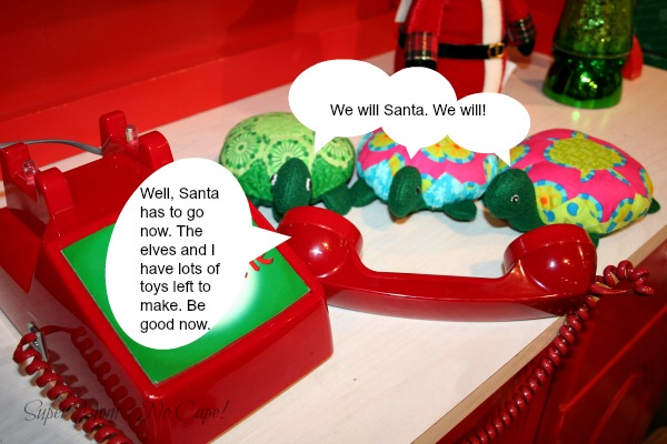 The Hexie Turtles say goodbye to Santa