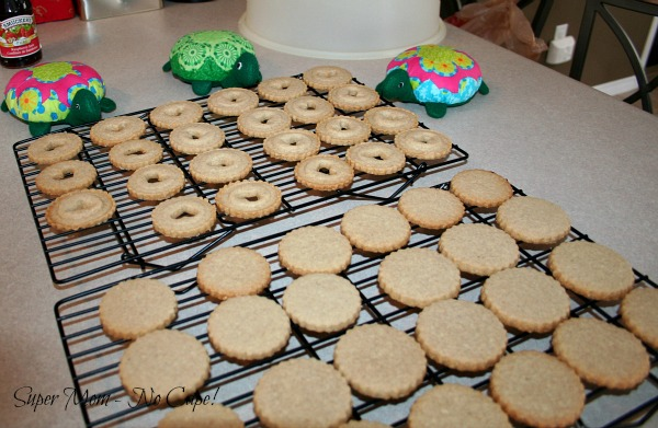 Cookies cooled and ready to put together