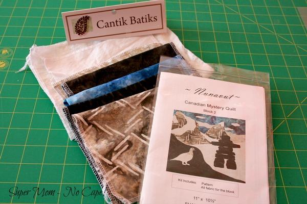 Fabrics for Nunavut block
