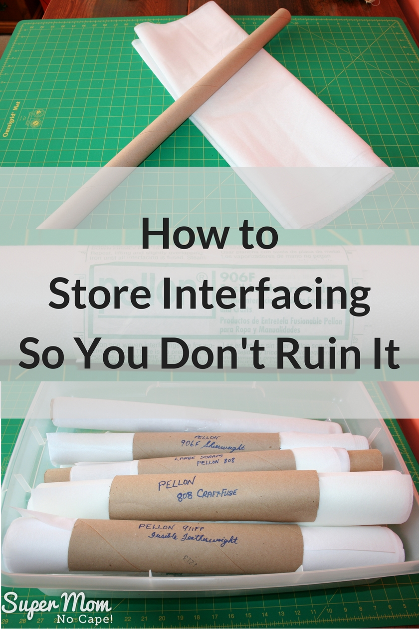 How to Store Interfacing So You Don't Ruin It