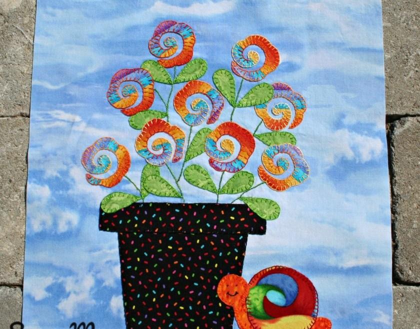 In Our Garden BOM - Funky Flower Pot Block