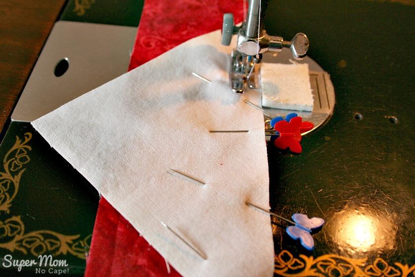 Maple Leaf Blocks - Step 6B Stitch using a quarter inch seam allowance