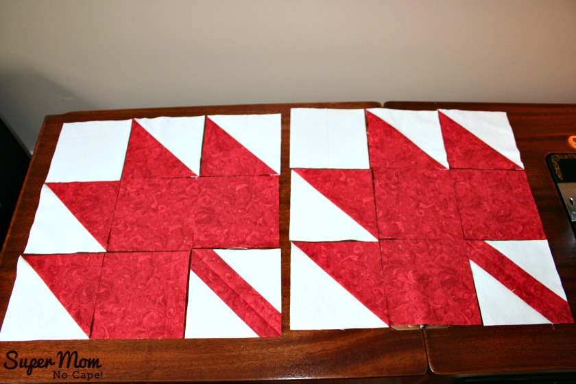 Maple Leaf Blocks - Step 7 Lay your blocks out as indicated