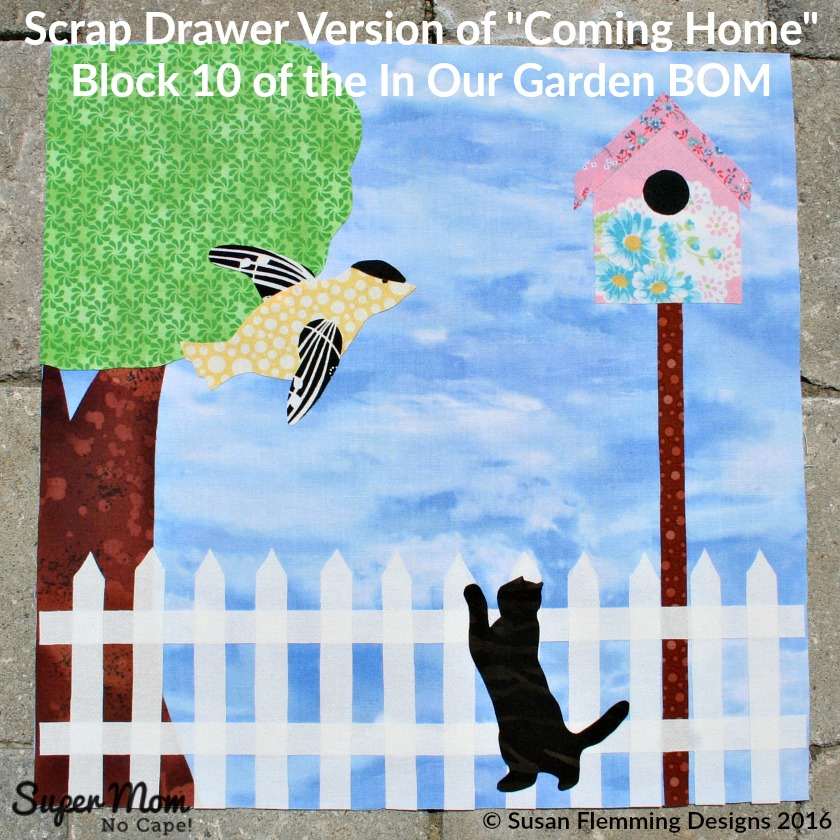 Scrap Drawer Version of Coming Home - Block 10 of the In Our Garden BOM