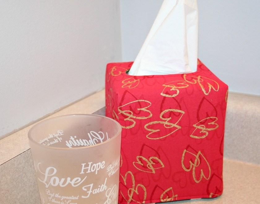 Square Valentine's Tissue Box Cover