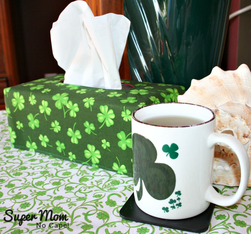 St. Patricks Day Tall Rectangular Reversible Tissue Box Cover