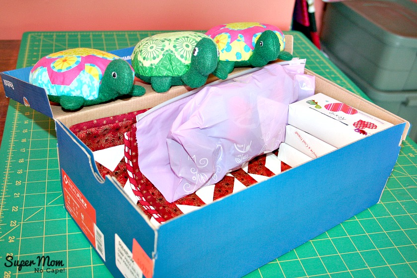 The Hexie Turtles Help to Pack their stuff