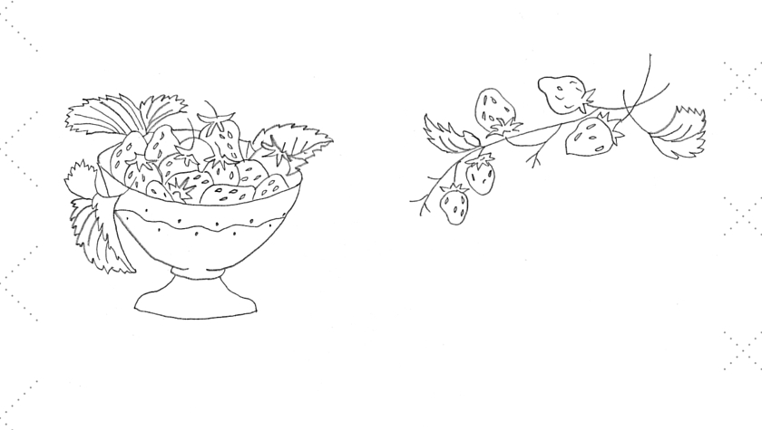 Vintage Workbasket Embroidery Pattern -- Strawberries in a Bowl