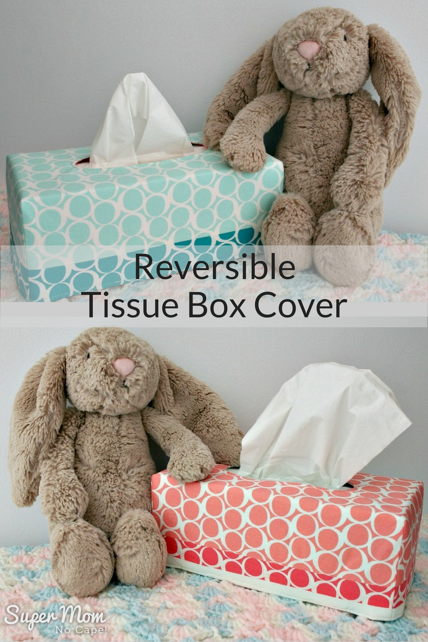 Reversible Tissue Box Cover Made with fabrics from the Round Elements line by Art Gallery Fabrics