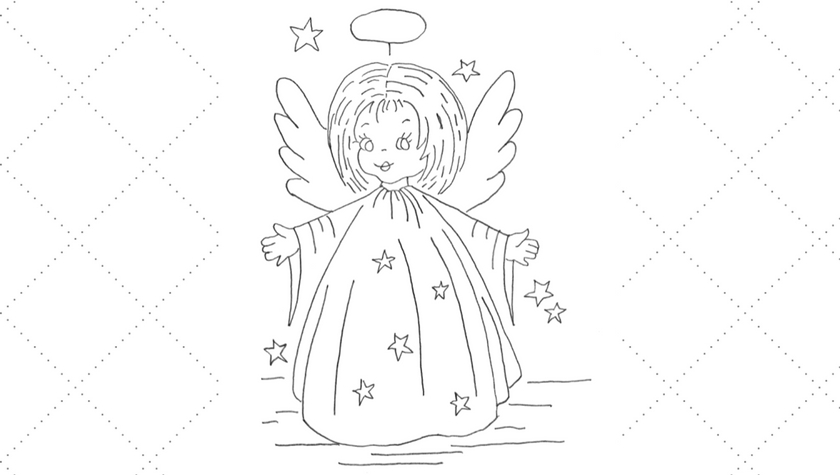 Vintage Workbasket - Embroidery Pattern - Adorable Angel