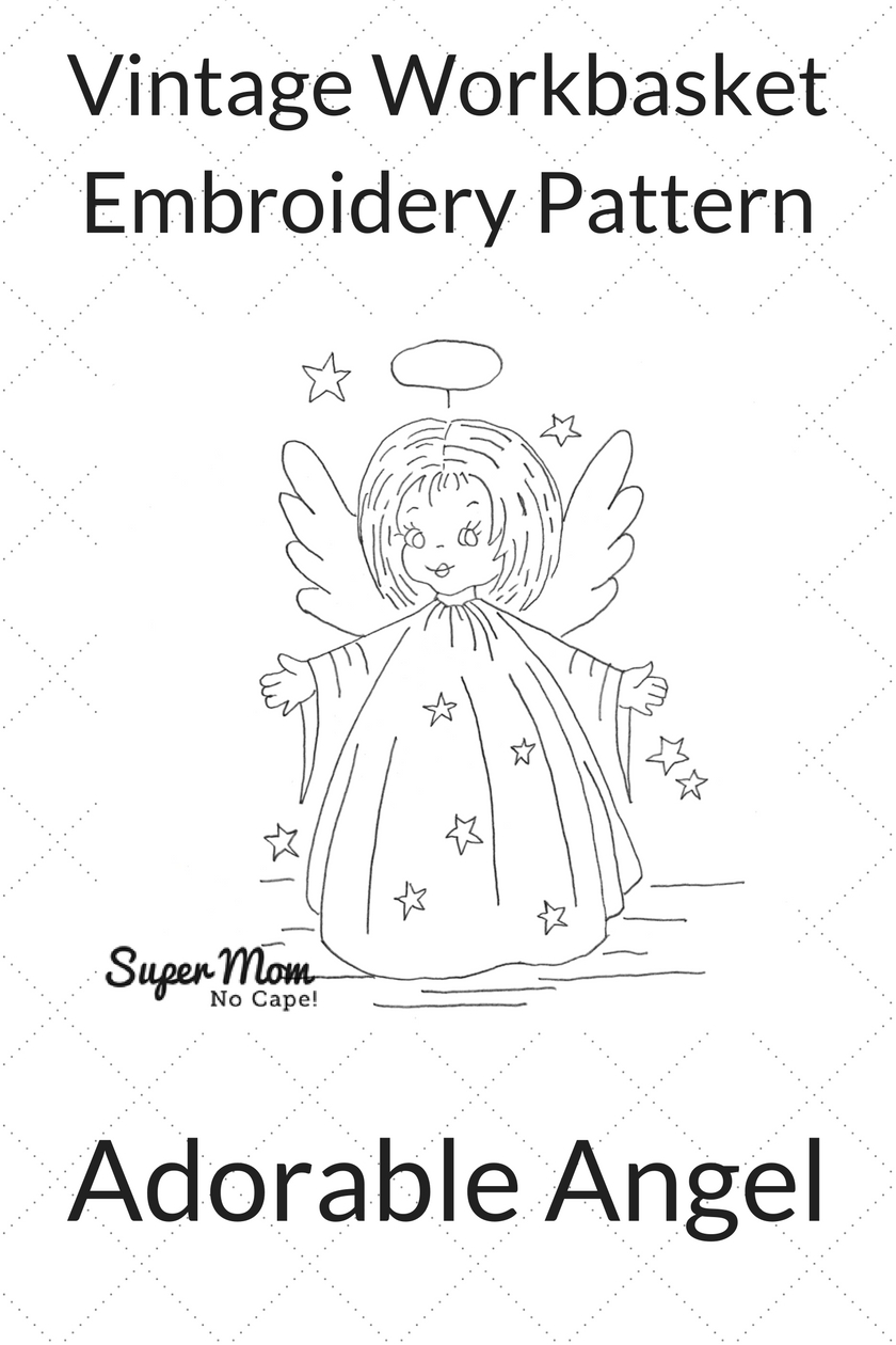Vintage Workbasket Embroidery Pattern - Adorable Angel