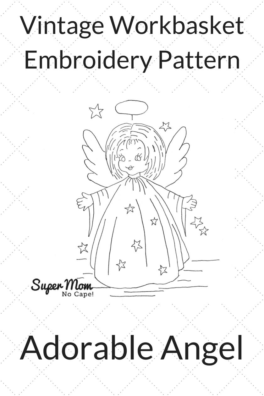 Vintage Workbasket Embroidery Pattern - Adorable Angel