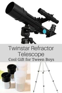 Cool Gifts for Tween Boys - Twinstar Refractor Telescope