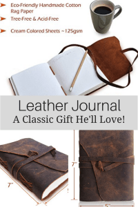 Great Gift Ideas for Men - Leather Journal