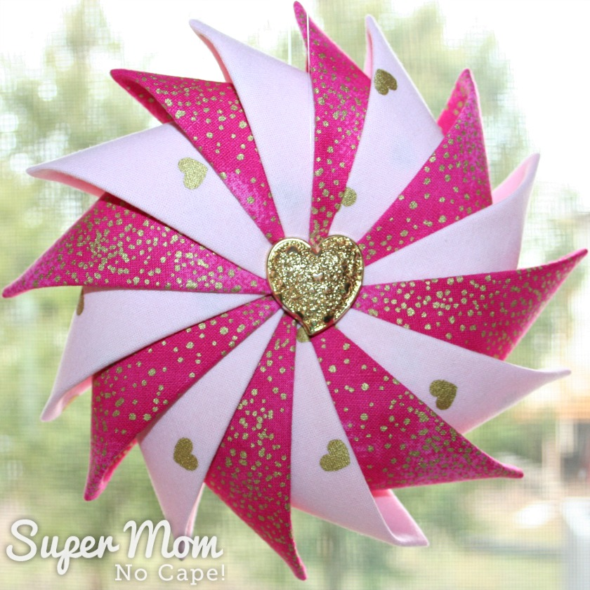 Last Minute Valentine's Gifts - Pink Heart Prairie Point Star Ornament