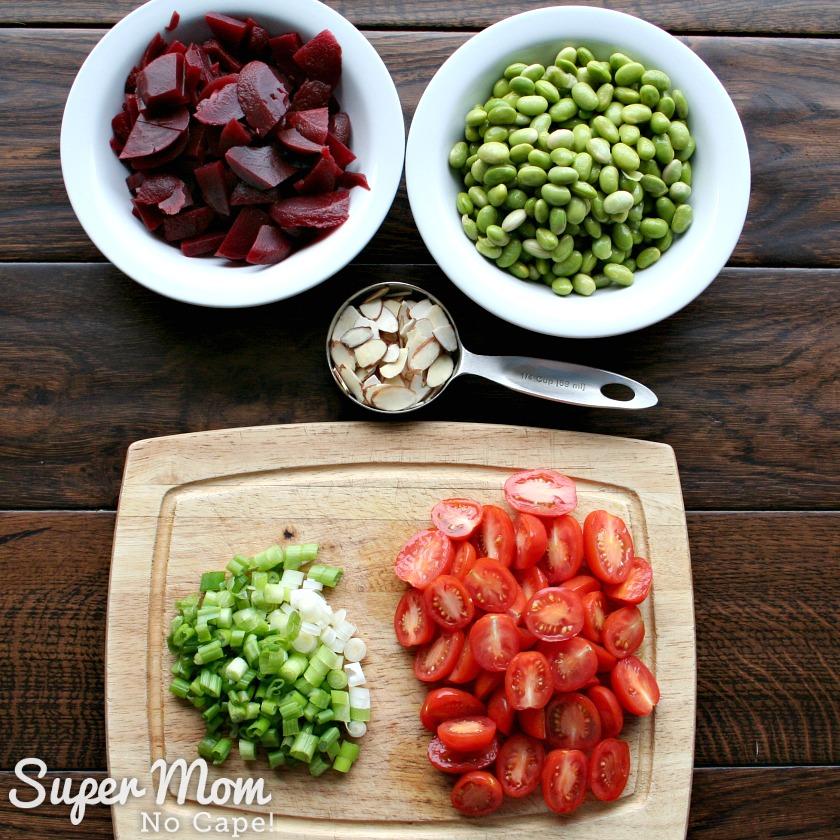 Beet and Edamame Salad - 5 simple ingredients to make this salad
