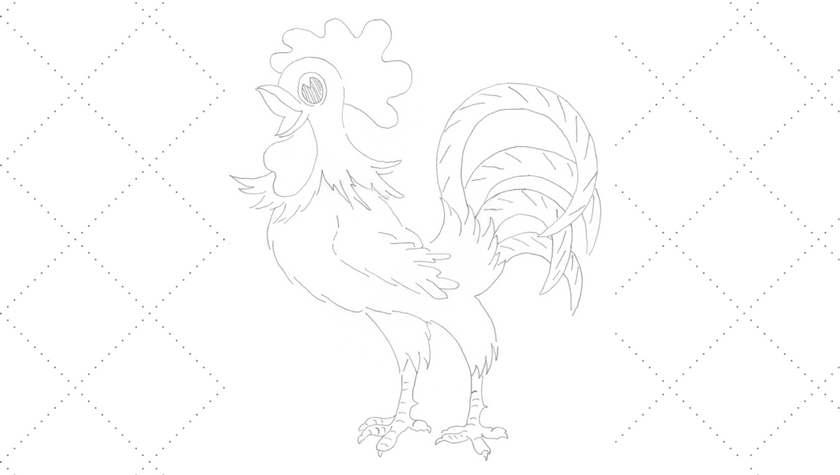 Vintage Embroidery Monday - Rooster