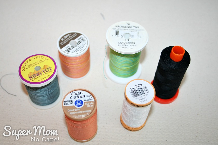 The Secret in Your Thread Spools - 6 different brands of thread