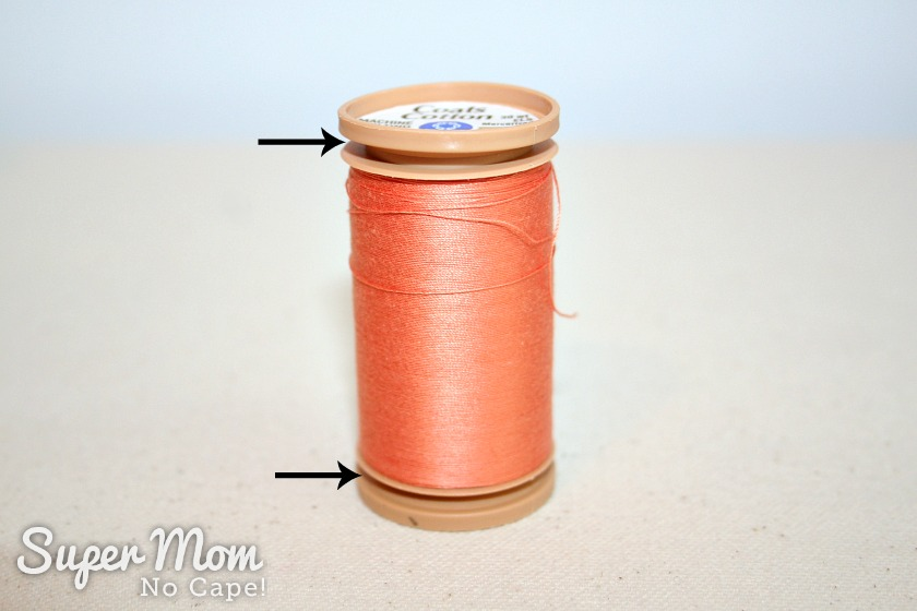 The Secret in Your Thread Spools - Coats Cotton with top and bottom of spool popped