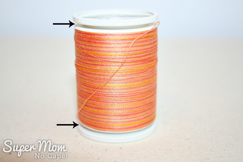 The Secret in Your Thread Spools - Sulky thread spool with top and bottom popped