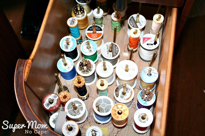 The Secret in Your Thread Spools - drawer full of thread