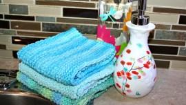 Knitted Seed Stitch Dishcloth Pattern