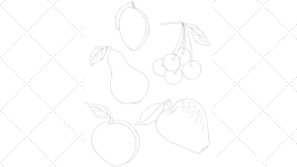 Vintage Embroidery Monday - Vintage Workbasket Embroidery Pattern - Summer Fruits - Peach, Apple, Pear, Plum and Cherries