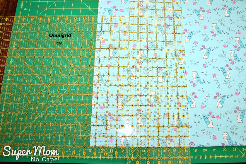 One Hour Table Runner - Cut second strip at 9.5 inches