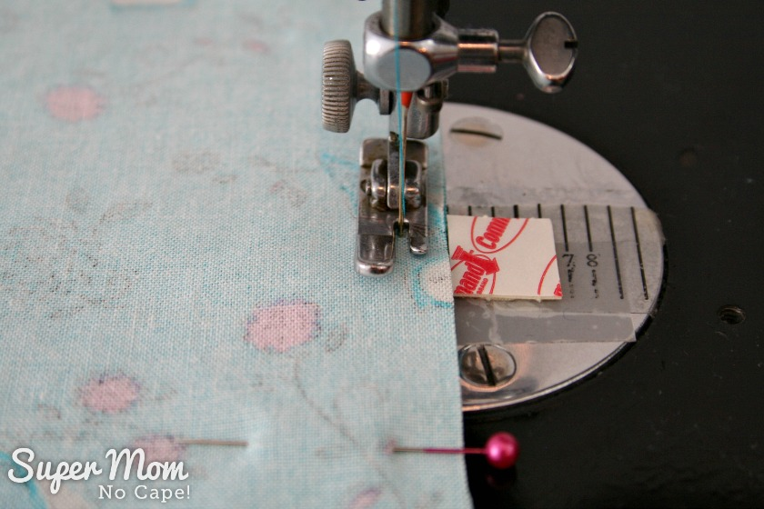 One Hour Table Runner - Sew using a quarter inch seam allowance