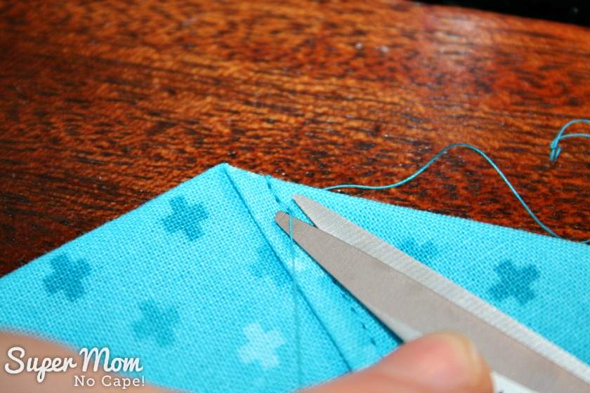 One Hour Table Runner - Trim threads close to the fabric