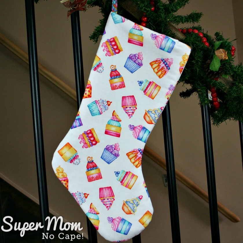 Cupcakes Cotton Christmas Stocking