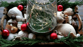 Elegant Ways to Bring the Beach Into Your Christmas Decor - sea shells