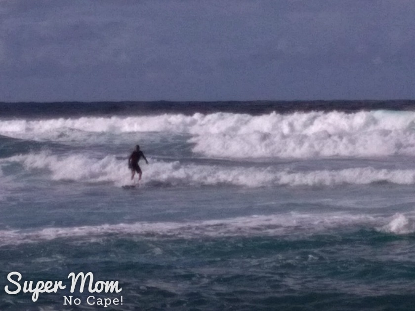Second photo of surfer at Hookipa