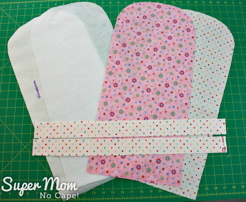 Photo of all the pieces needed for the Tablet Pouch Tutorial