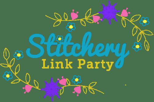 New Stitchery Link Party Transparent Button