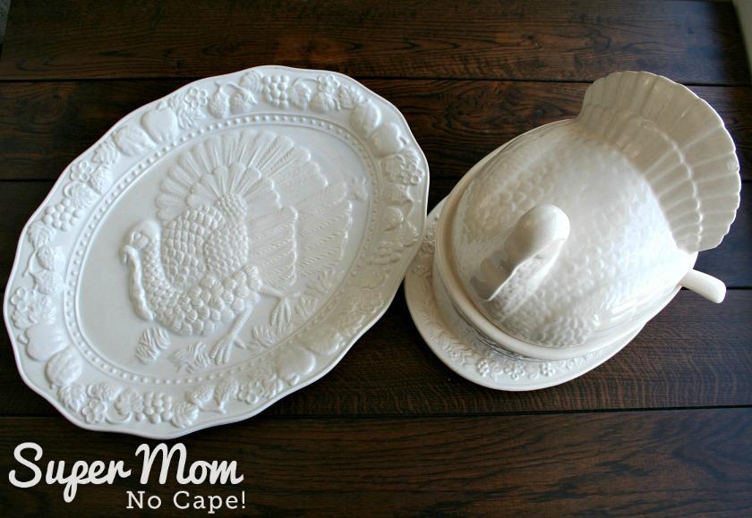 Turkey platter and turkey tureen
